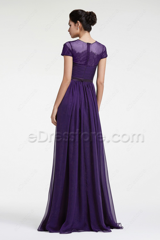 Dark Purple Mother Of The Bride Dresses