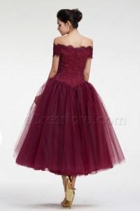 Tea Length Ball Gown Prom Dresses - Eligent Prom Dresses