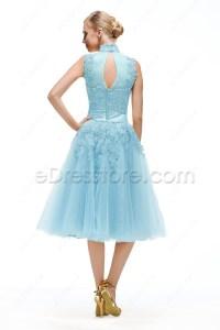 Vintage Evening Dresses Tea Length - Boutique Prom Dresses