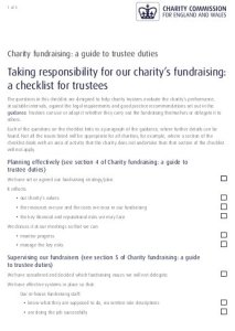 Trustee fundraising checklist - image and link