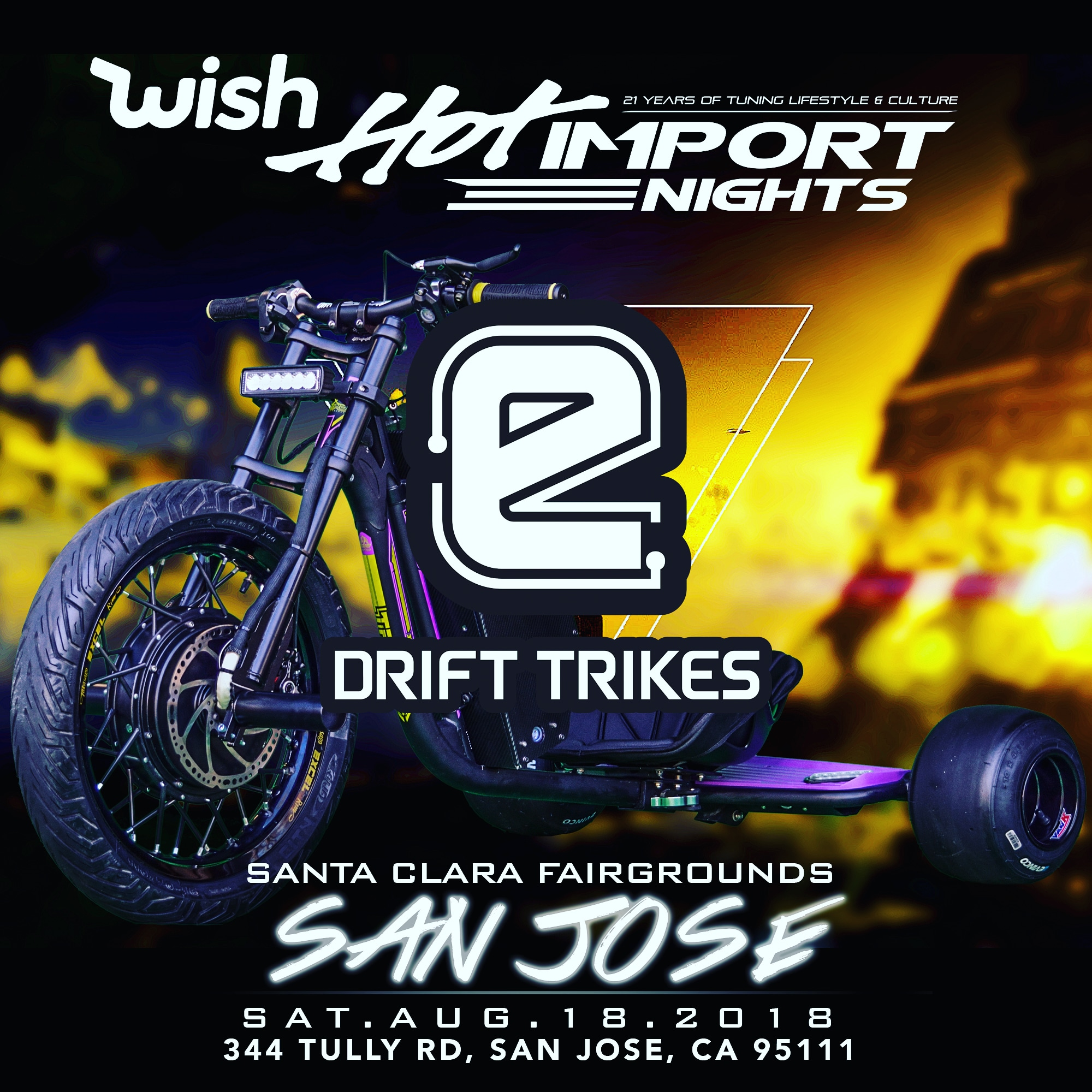 eDriftTrikes at Hot Import Nights San Jose 2018