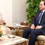 visit of external afaires minister to egypt
