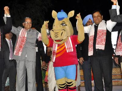LOGO and MASCOT of 12th South Asian Games, 2016 Launched At Guwahati
