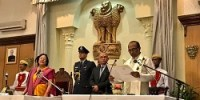 N Biren Singh takes oath as Manipur's first BJP chief minister
