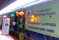 Railways launches first DEMU train with solar-powered coaches at Delhi
