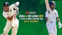 India tour of Sri Lanka, 2017