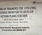 NDMA to conduct Training of Trainers for Sendai Framework