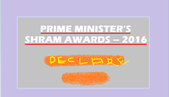 Prime Minister's Shram Award for 2016
