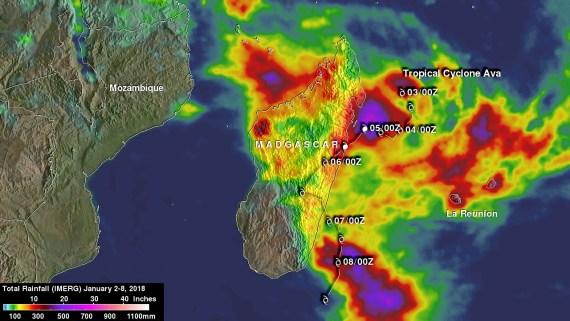 Tropical cyclone Ava Over Madagascar
