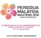 MALAYSIA MASTERS 2018