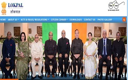 Website of Lokpal inaugurated