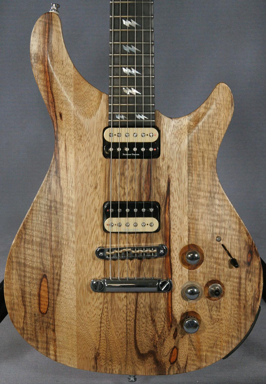 Quicksilver Solid Black Korina Guitar  Ed Roman Guitars