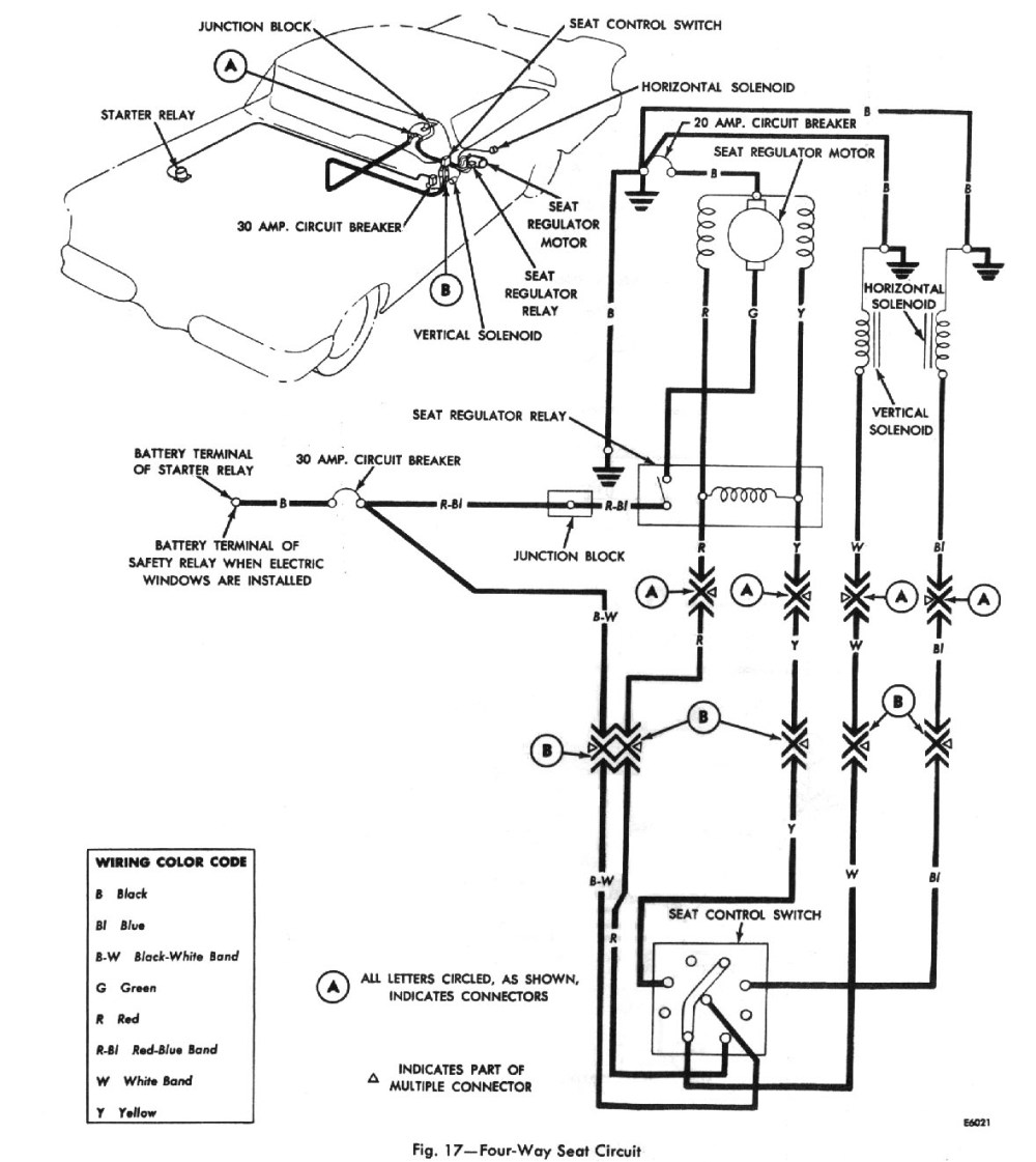 medium resolution of four way seat circuit wiring diagram