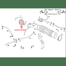 Smart Roadster 452 Air Intake TIK pipe 45/60/74 kw