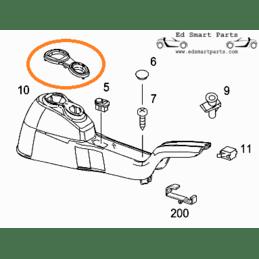 Smart Roadster Dashboard carbon look Trim Ring panel