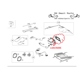 OEM Smart ForTwo 451 facelift model as of 9-2010 mounting