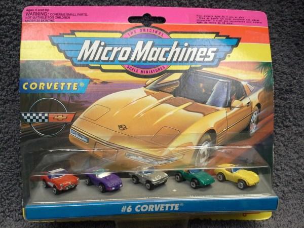 Micro Machines #6 Corvette Collection Moc 75030 1956 1964