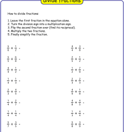 Free Dividing Fraction worksheet   printable pdf worksheets [ 1500 x 1000 Pixel ]