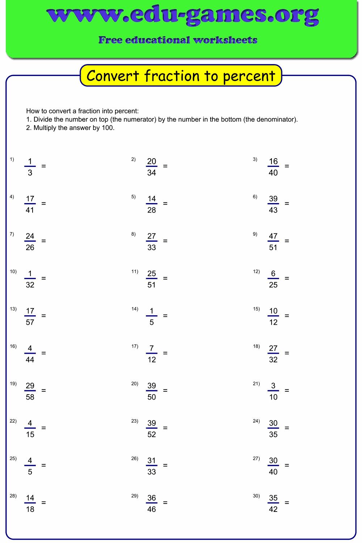 hight resolution of Convert fraction to percent worksheet maker   Free Printable Worksheets