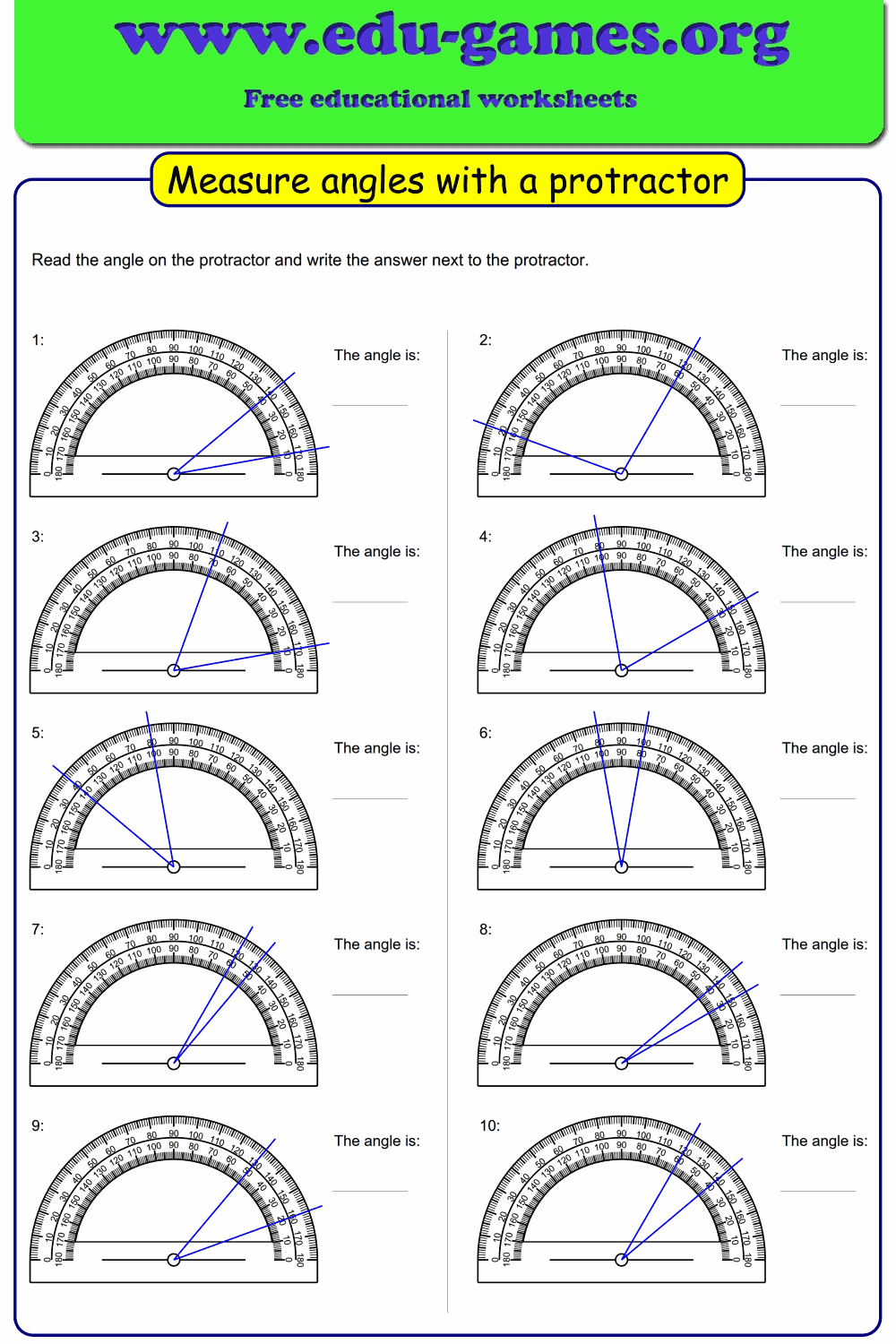 hight resolution of Measure Angles Without Protractor