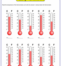Reading temperature on thermometer worksheet maker [ 1500 x 1000 Pixel ]
