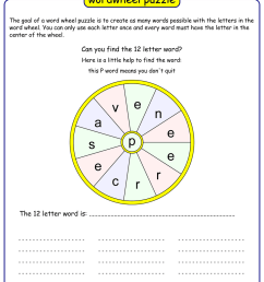 Word Wheel   Printable Puzzle Maker with Answers [ 1500 x 1000 Pixel ]