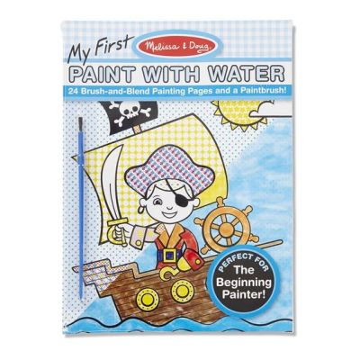 My First Paint With Water Kids' Art Pad With Paintbrush