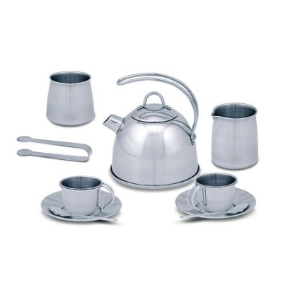 Stainless Steel Tea Set and Storage Stand