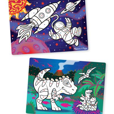 3-D Marker Coloring Puzzles - Space