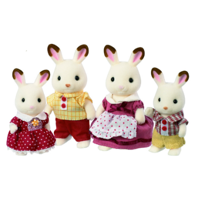 Sylvanian-Families-Chocolate-Rabbit-Family