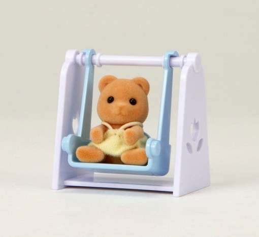 Sylvanian Family - Bear Baby with Swing