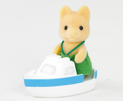 Sylvanians Maple Dog Baby with Boat