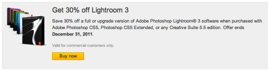 30% of Adobe Lightroom 3