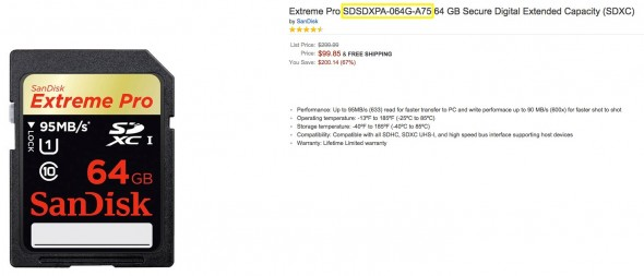 Amazon.com_ Extreme Pro SDSDXPA-064G-A75 64 GB Secure Digital Extended Capacity (SDXC)_ Computers & Accessories