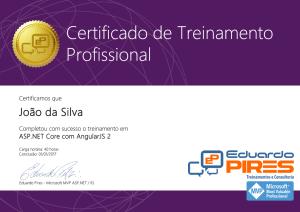 Certificado Curso de ASP.NET Core e AngularJS 2