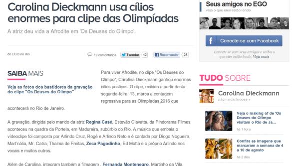 Recorte sobre Carolina dieckman