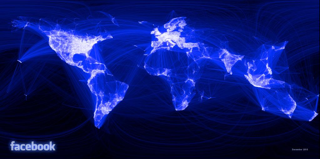 Mapa do facebook no mundo por usuário