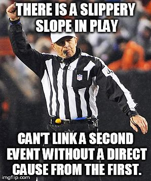 Ref Blows Whistle and Throws Flags on Logical Fallacy Plays