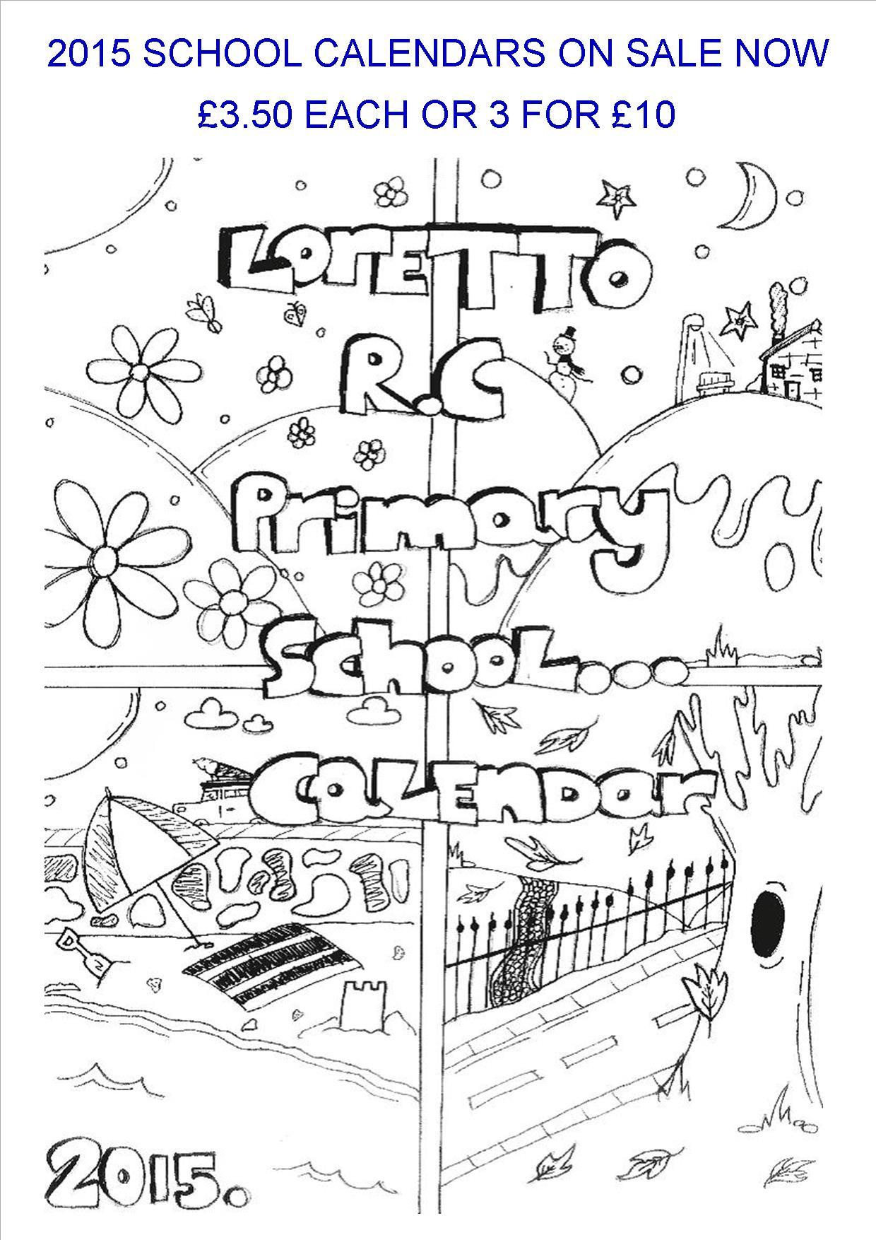 2015 School Calendar Poster