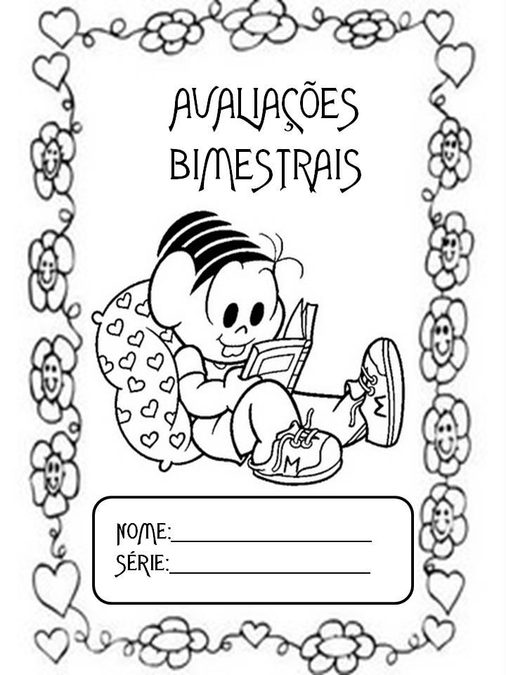 Capas Para Caderno Ilustradas E Para Colorir