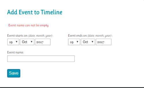 Línea de tiempo timeline