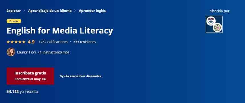 Inglés para la alfabetización de medios