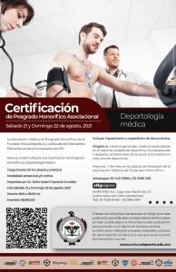 Certificación de Posgrado Honorifico en Deportologia Medica.
