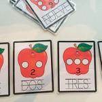 Aprendiendo a contar con manzanas