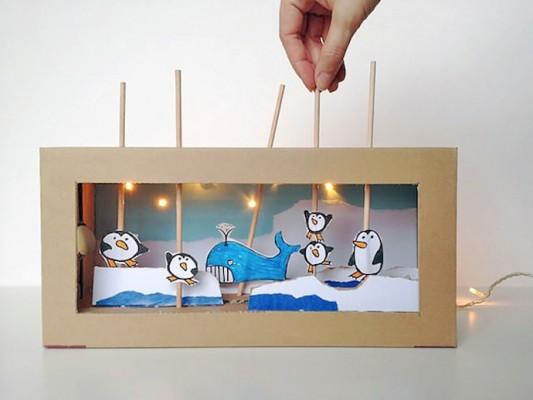 teatro-marionetas-carton-caja-zapatos-reciclado-jueguete-diy
