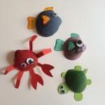 Día 3: Animales marinos con conchas.