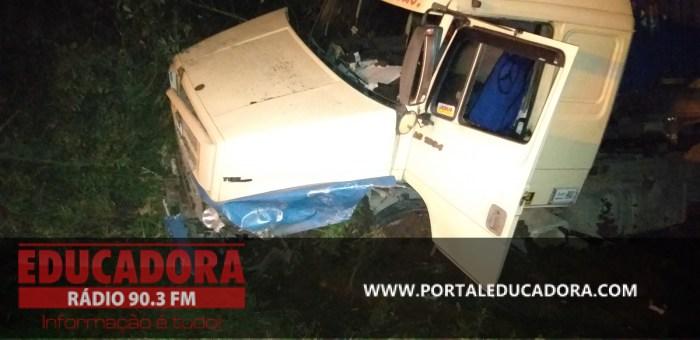 Acidente é registrado na BR470 em Pouso Redondo na Serra da Santa