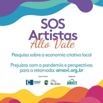 Pesquisa SOS Artistas Alto Vale segue até 22 de maio
