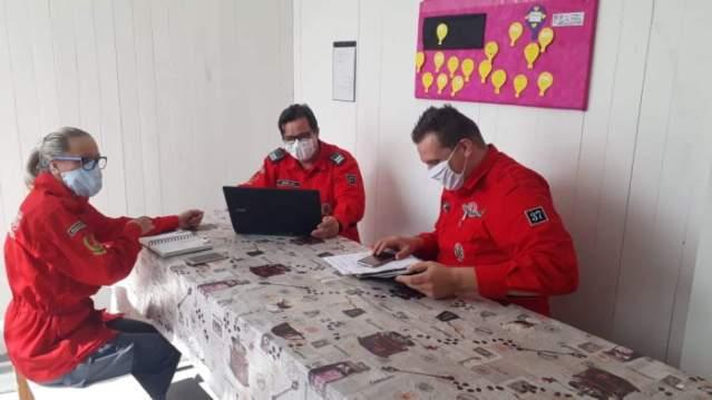 Diretoria dos Bombeiros Voluntários se reúne com o Comandante da Corporação em Presidente Getúlio