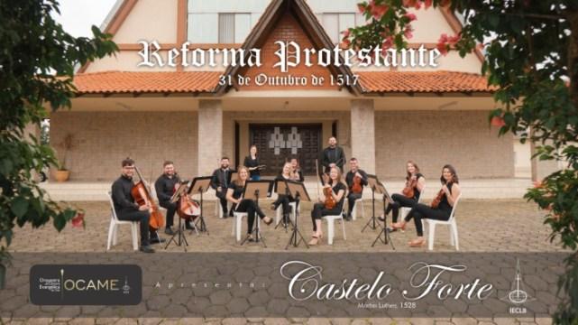 """Vídeo: Orquestra da IECLB de Taió comemora 503 anos da Reforma Protestante com o hino """"Castelo Forte"""""""